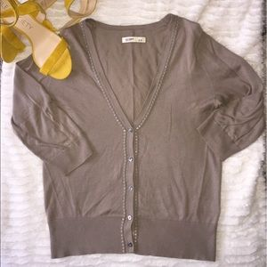 3/4 sleeve sweater taupe color adorable